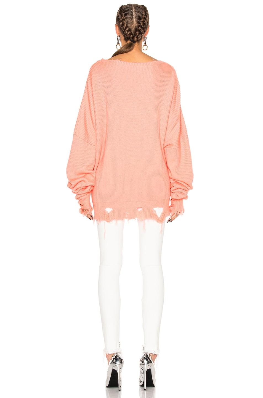 Image 5 of Unravel Destroyed Oversized Crewneck Sweatshirt in Orange