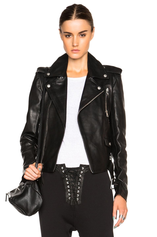 6b49878e31b Image 1 of Unravel Lace Up Biker Jacket in Black