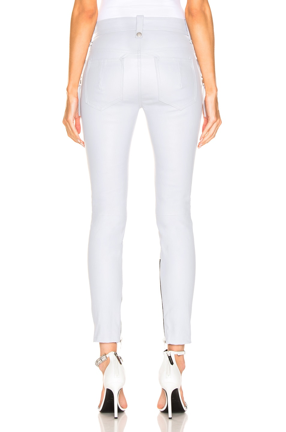 Image 3 of Unravel Plonge Lace Up Skinny Pant in Light Grey