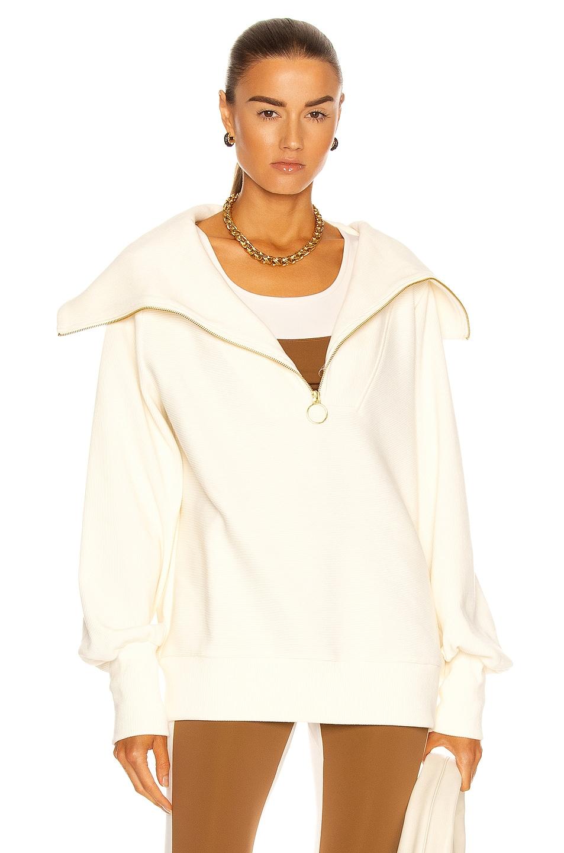 Image 1 of Varley Vine Half Zip Sweatshirt in Ivory