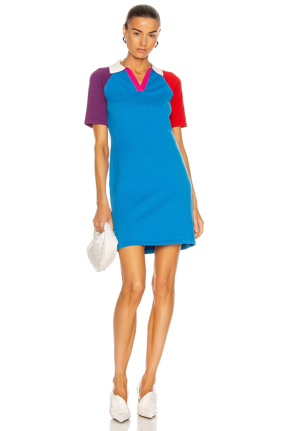 Image 1 of Victor Glemaud Color Block Polo Dress in Purple Multi