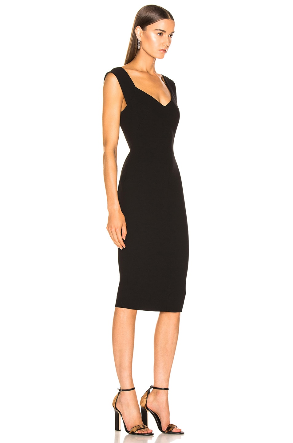 Image 2 of Victoria Beckham Fitted Dress in Black