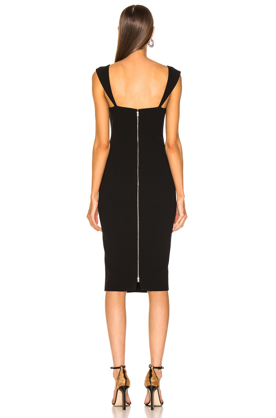 Image 3 of Victoria Beckham Fitted Dress in Black