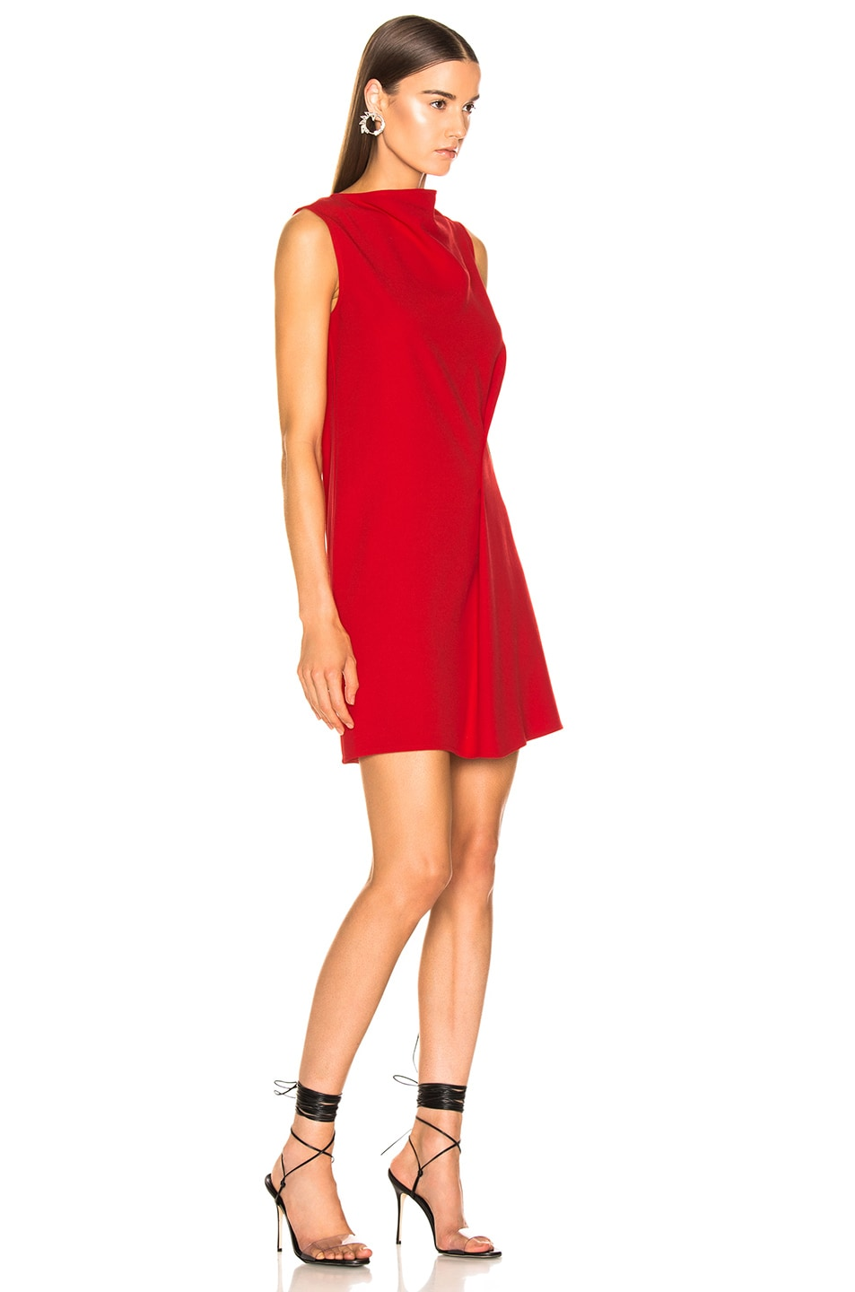Image 2 of Victoria Beckham Side Drape Tunic Dress in Candy