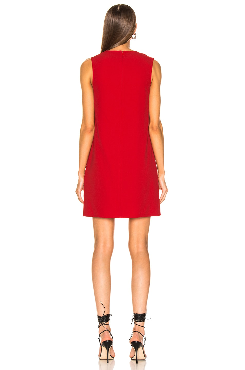Image 4 of Victoria Beckham Side Drape Tunic Dress in Candy