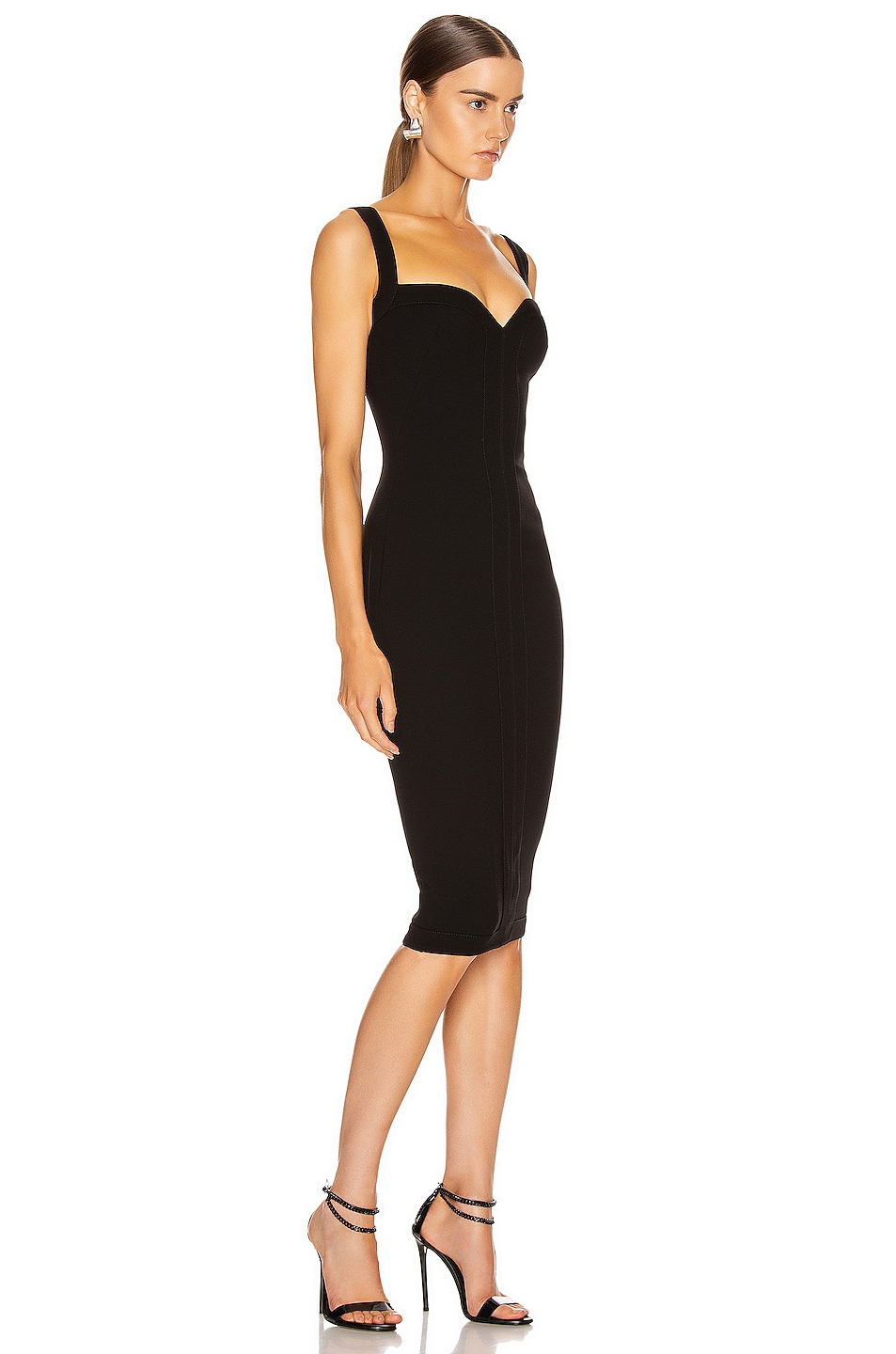 Image 2 of Victoria Beckham Cami Fitted Dress in Black