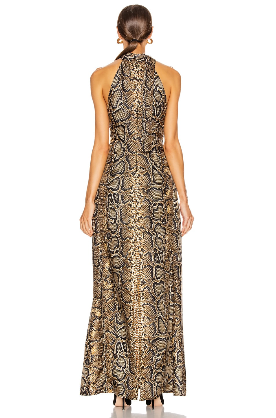 Image 3 of Victoria Beckham Halter Neck Dress in Khaki