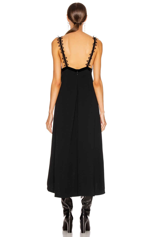 Image 3 of Victoria Beckham Lingerie Midi Dress in Black