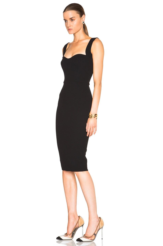 Image 2 of Victoria Beckham Matte Crepe Curve Dress in Black