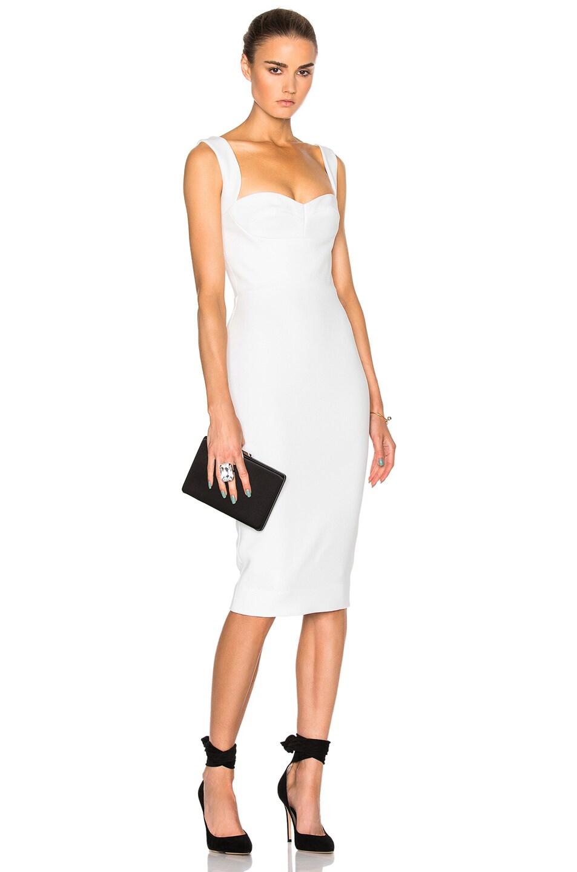 Victoria Beckham Matte Crepe Cami Dress In White Fwrd