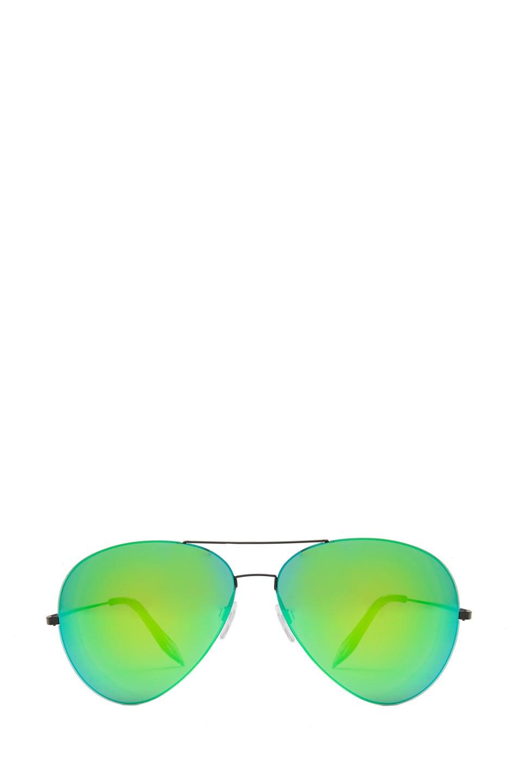 Image 1 of Victoria Beckham Feather Aviator Sunglasses in Cactus