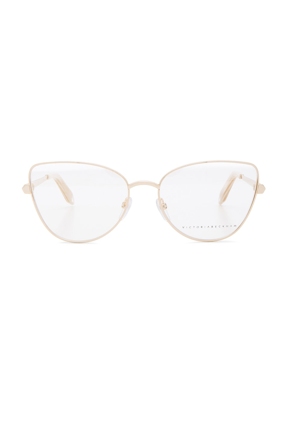 Image 1 of Victoria Beckham Fine Metal Butterfly Optical in Gold