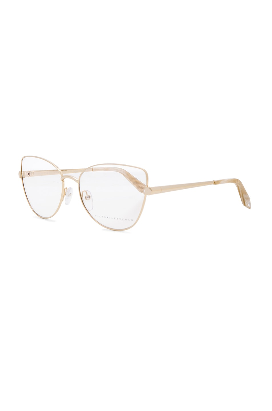 8bc5ae1943 Image 2 of Victoria Beckham Fine Metal Butterfly Optical in Gold
