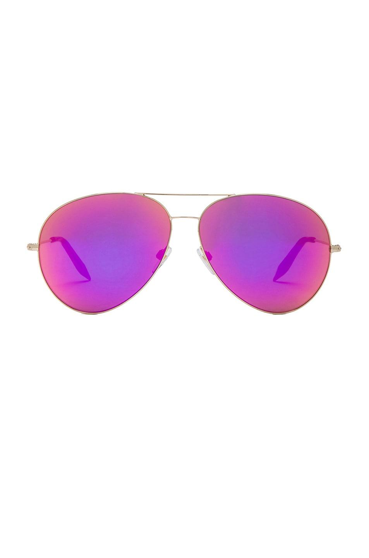 Image 1 of Victoria Beckham Classic Aviator Sunglasses in Fuchsia