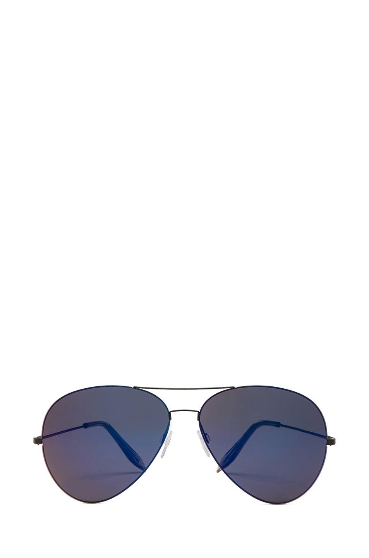 Image 1 of Victoria Beckham Feather Aviator Sunglasses in Purple Night