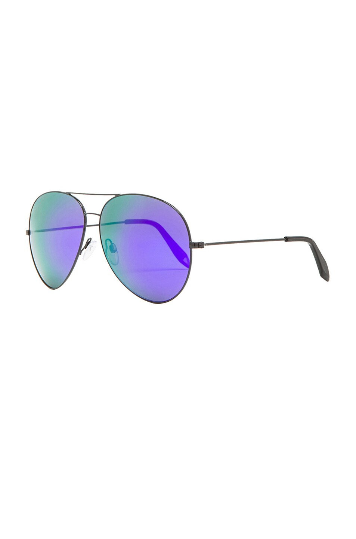 Image 2 of Victoria Beckham Classic Aviator Sunglasses in Midnight Eclipse