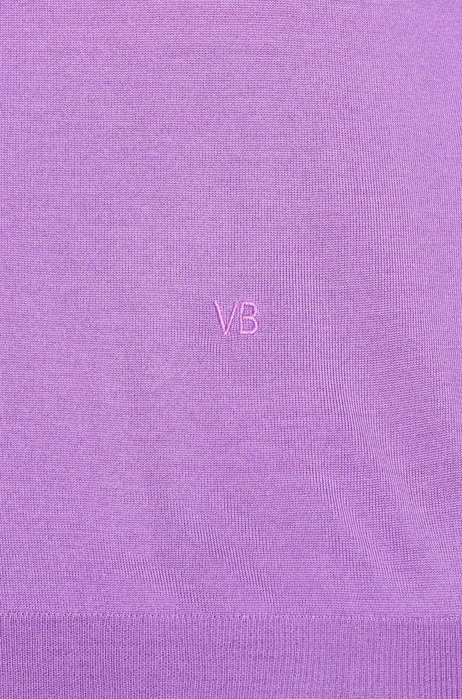 Image 5 of Victoria Beckham Ajure HIgh Neck Sweater in Bright Lilac