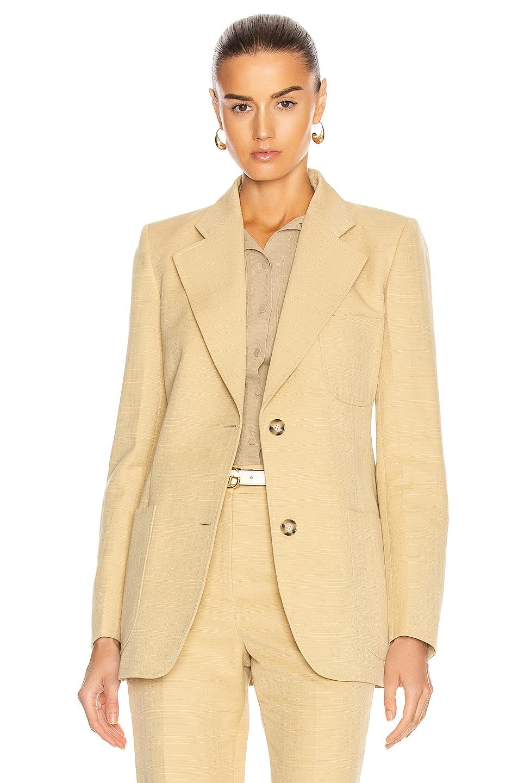 Image 1 of Victoria Beckham Bowie Jacket in Sand