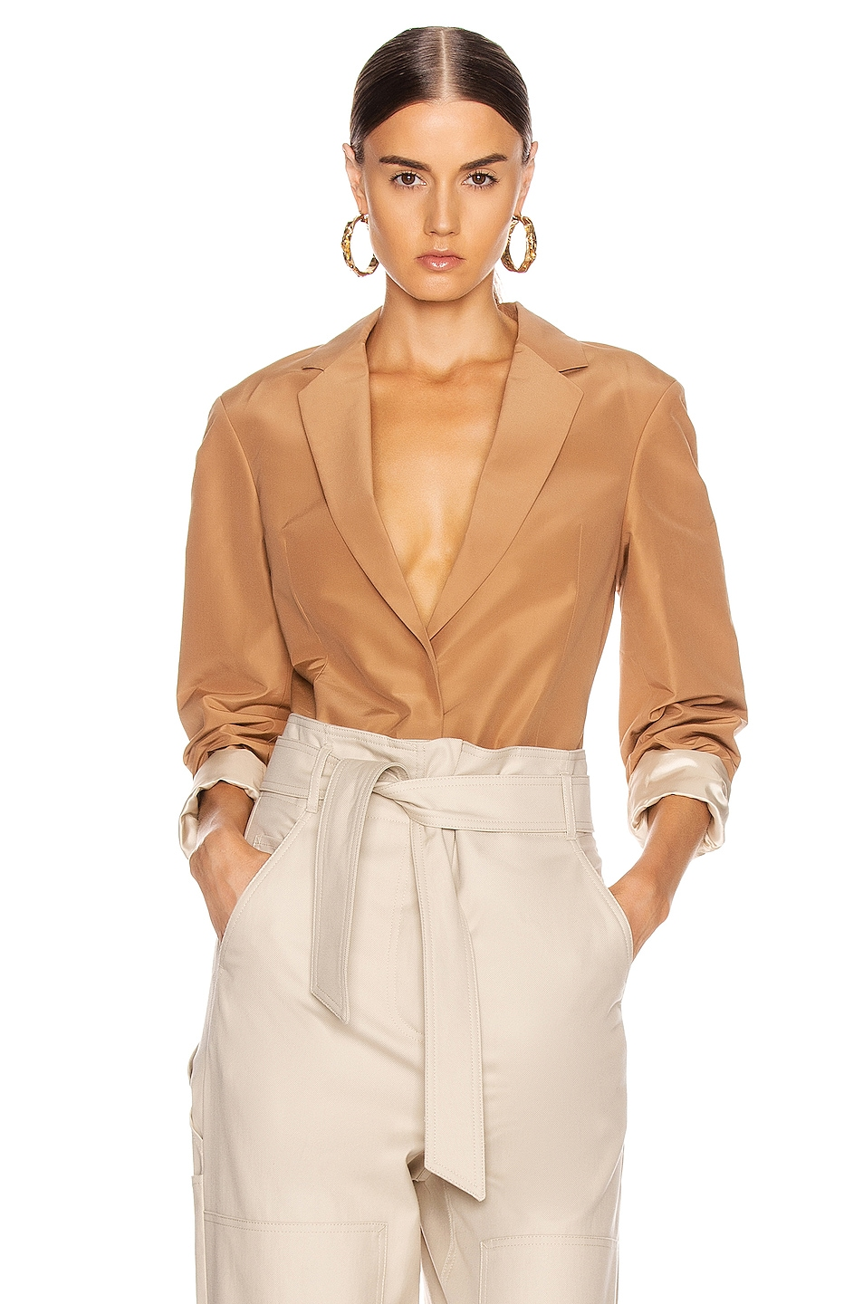 Image 1 of Victoria Beckham Masculine Jacket in Tan