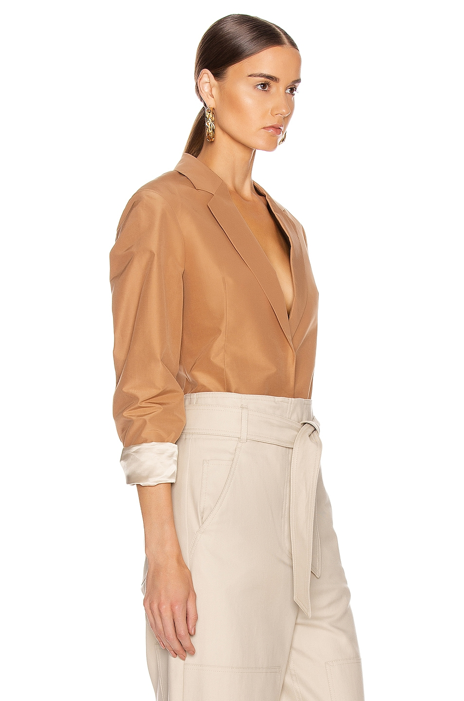 Image 3 of Victoria Beckham Masculine Jacket in Tan