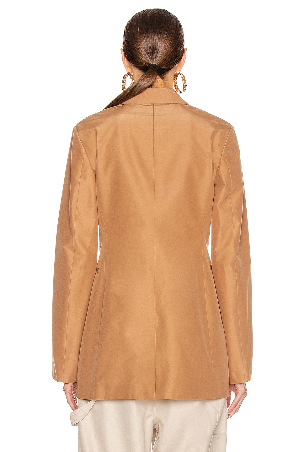 Image 4 of Victoria Beckham Masculine Jacket in Tan