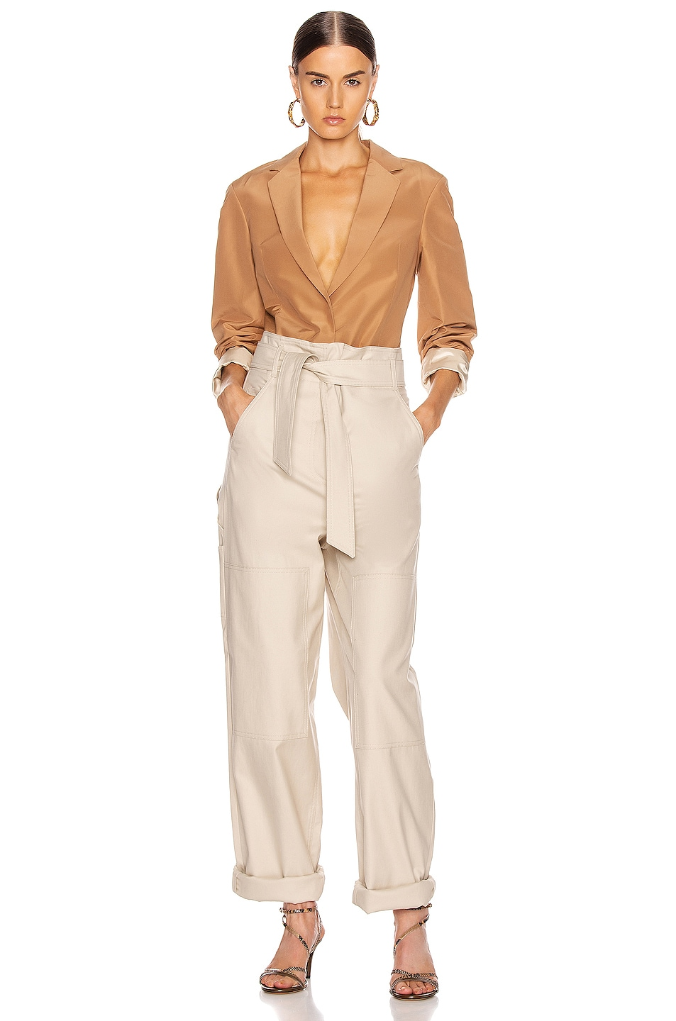 Image 5 of Victoria Beckham Masculine Jacket in Tan