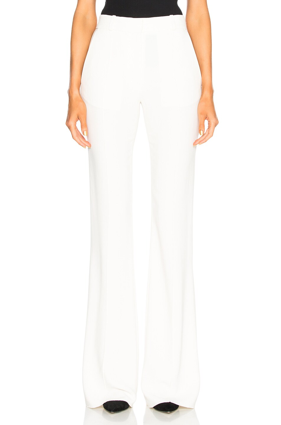 Image 1 of Victoria Beckham Flared Trousers in Vanilla