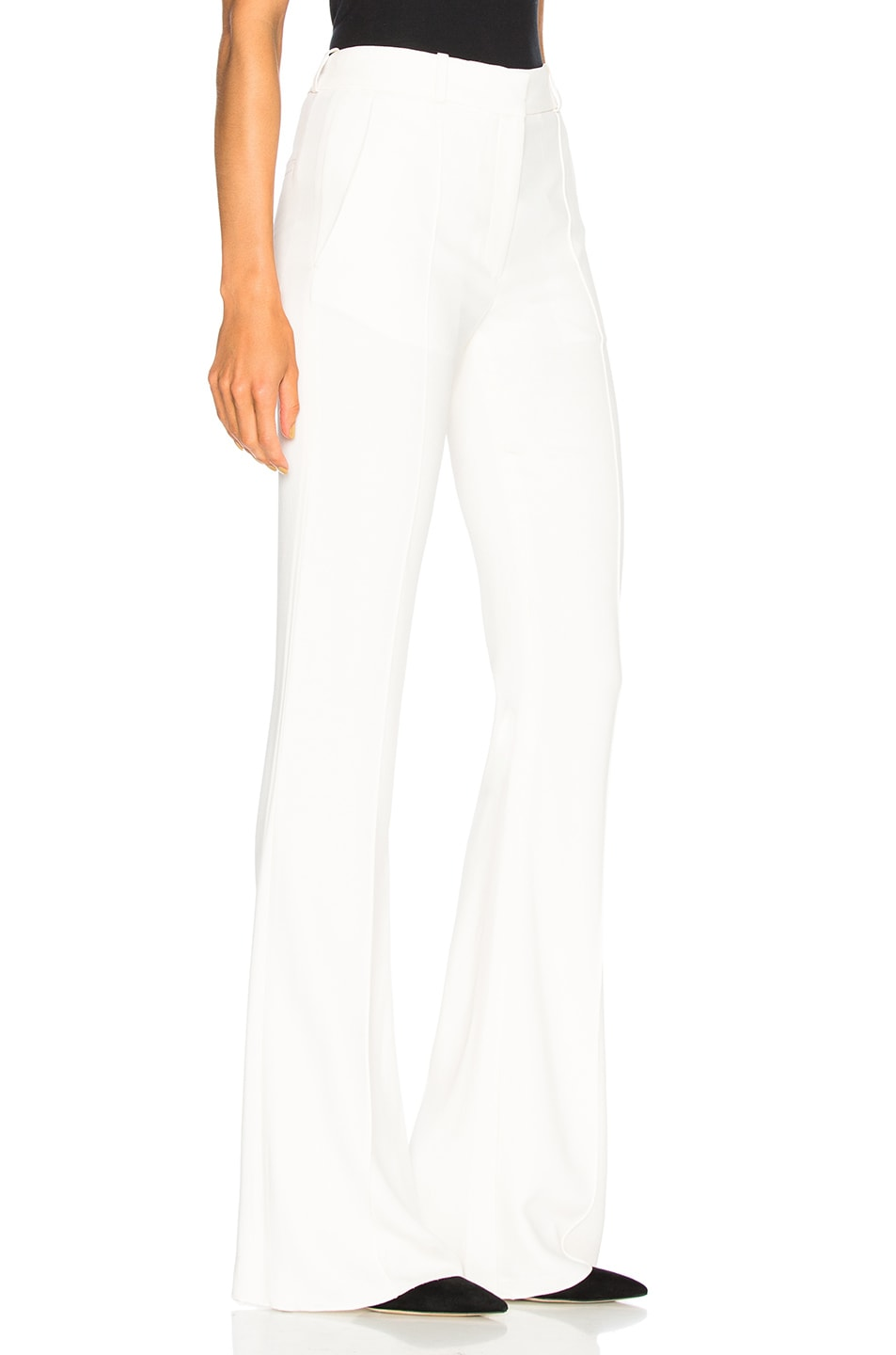Image 2 of Victoria Beckham Flared Trousers in Vanilla