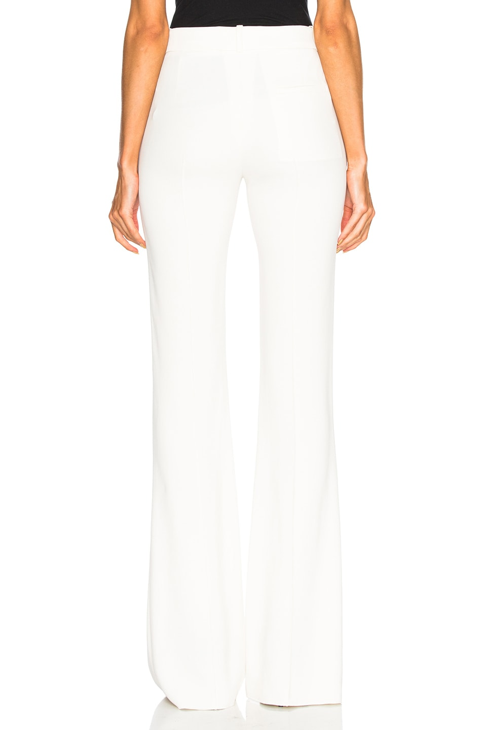 Image 3 of Victoria Beckham Flared Trousers in Vanilla