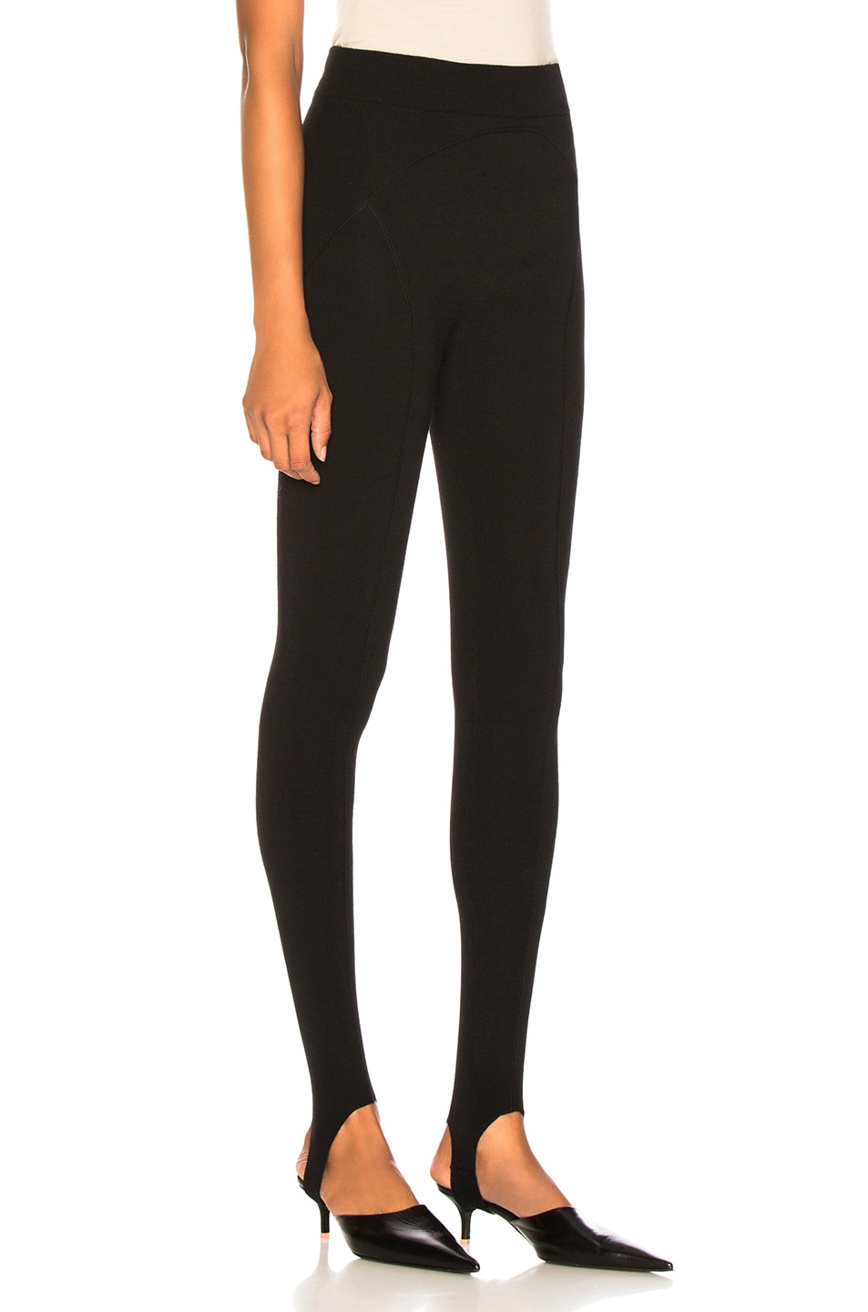 Image 2 of Victoria Beckham Stirrup Leggings in Black