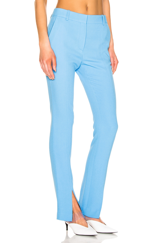 Image 2 of Victoria Beckham Front Split Skinny Trouser in Sky Blue