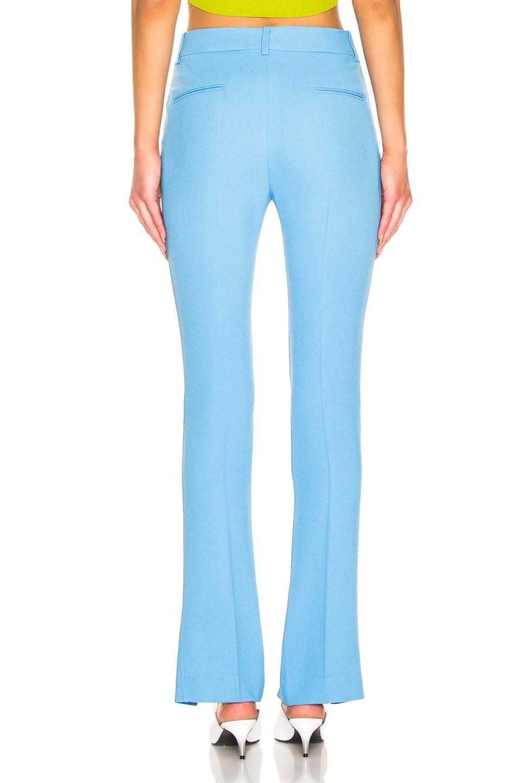 Image 3 of Victoria Beckham Front Split Skinny Trouser in Sky Blue