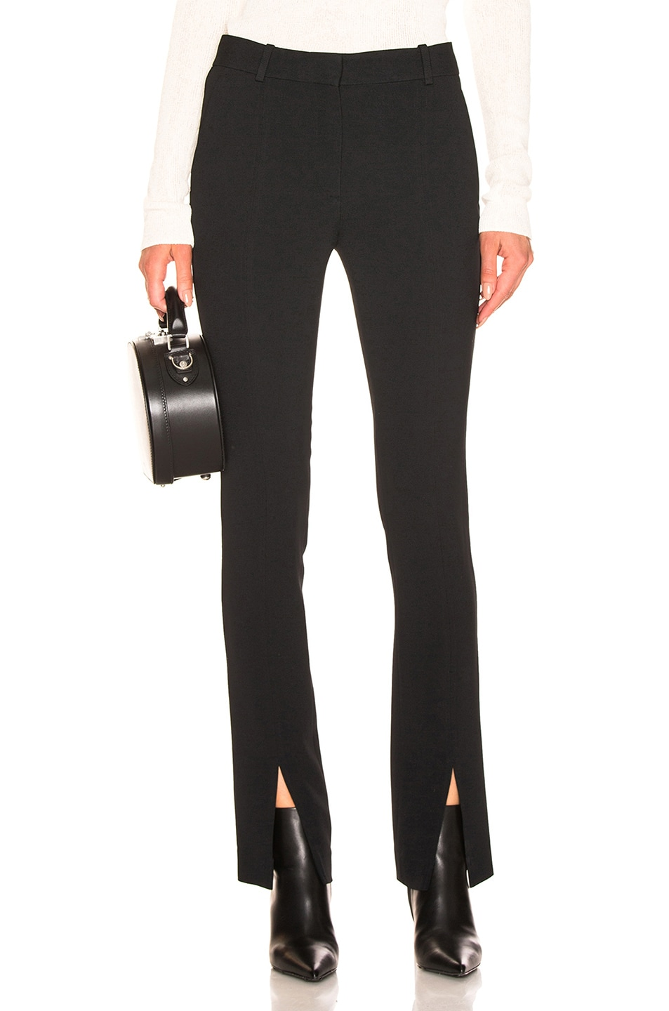 Image 1 of Victoria Beckham Front Split Skinny Trouser in Black