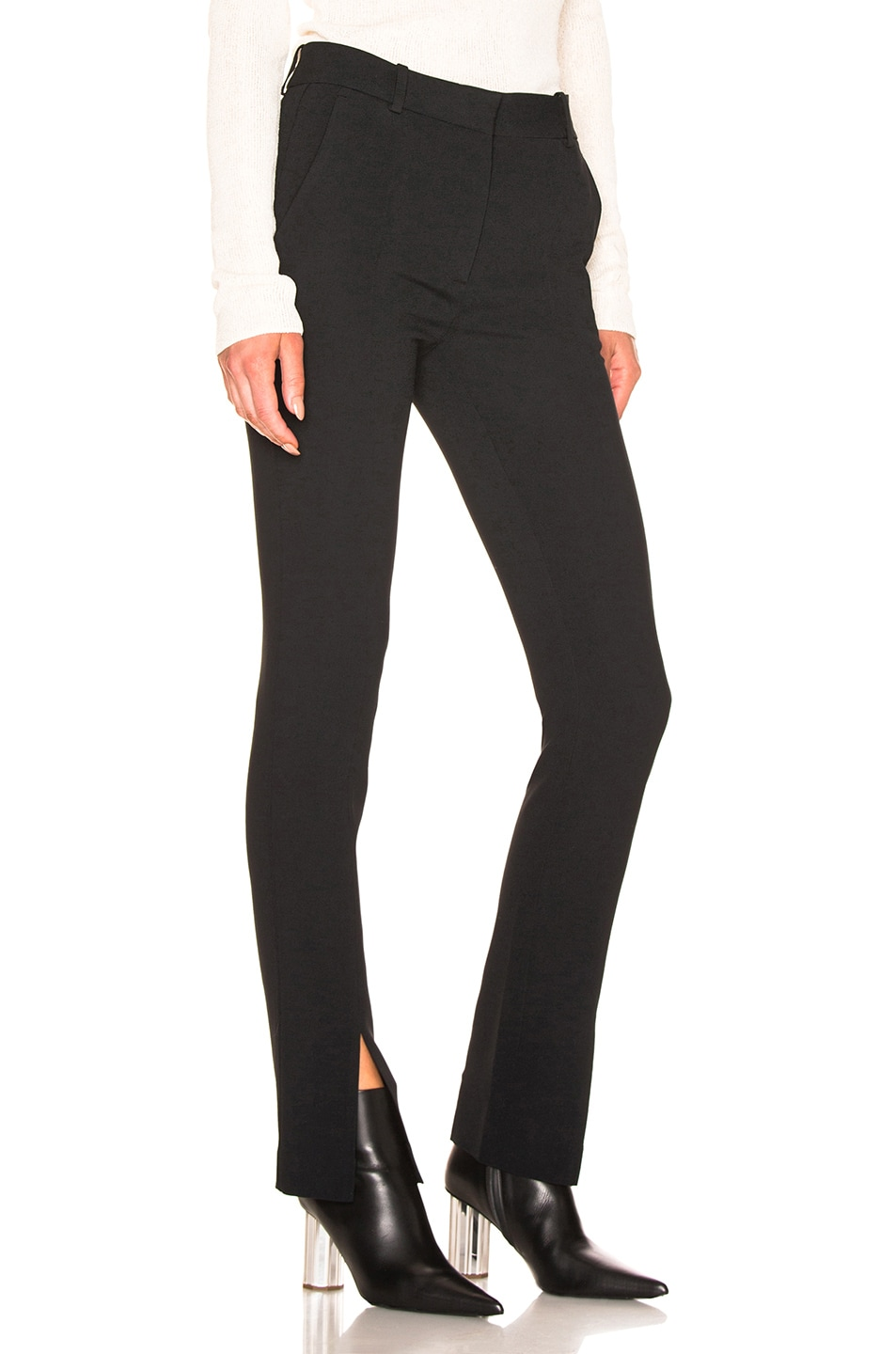 Image 2 of Victoria Beckham Front Split Skinny Trouser in Black