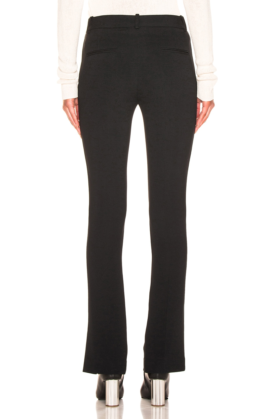 Image 3 of Victoria Beckham Front Split Skinny Trouser in Black