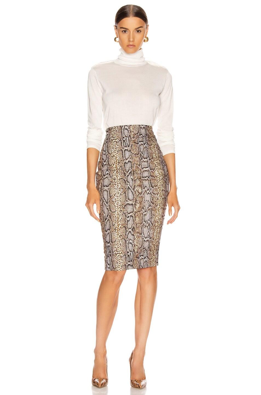 Image 4 of Victoria Beckham Pencil Skirt in Khaki