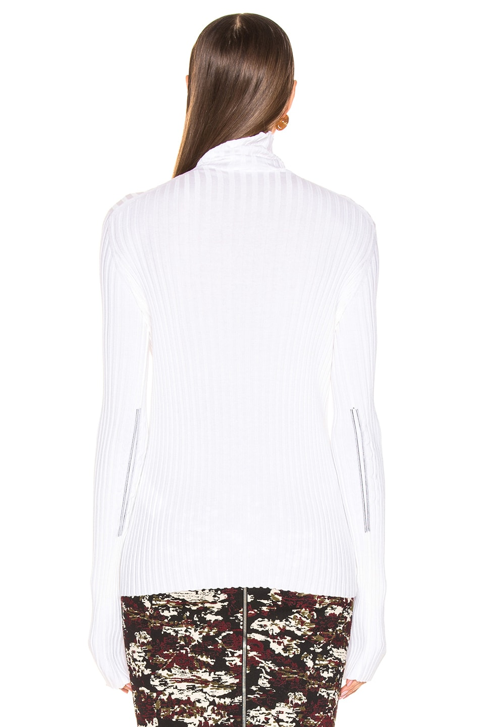 Image 3 of Victoria Beckham Polo Neck Top in Ivory