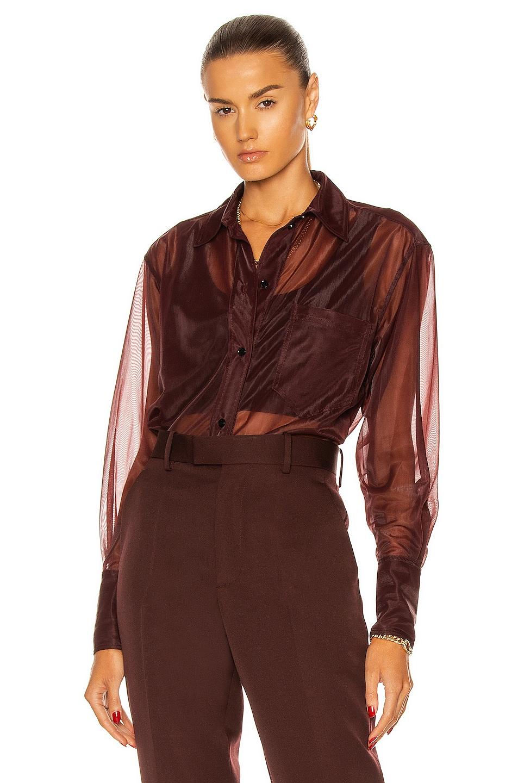 Image 1 of Victoria Beckham Classic Men's Shirt in Wine