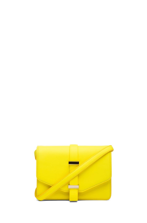 Image 1 of Victoria Beckham Mini Satchel in Acid Lemon