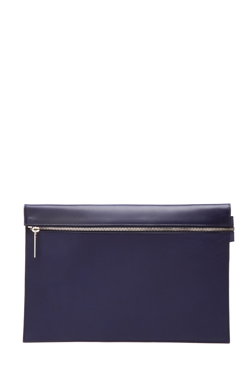 Image 1 of Victoria Beckham Large Zip Pouch in Blue