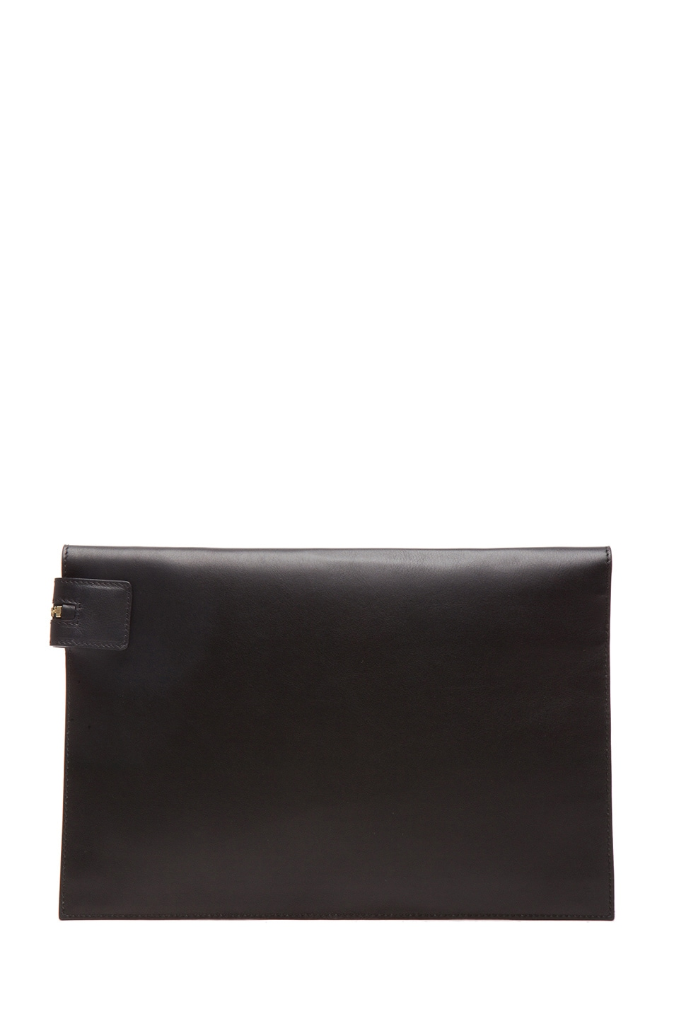 Image 2 of Victoria Beckham Large Zip Pouch in Light Grey & Black
