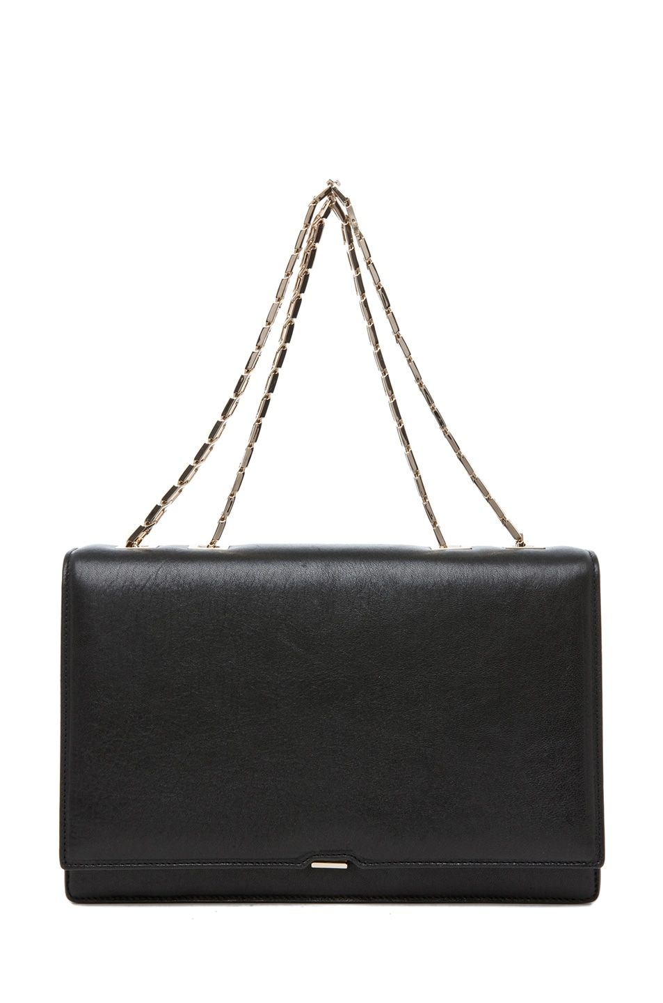 Image 1 of Victoria Beckham Hexagonal Chain Bag in Black