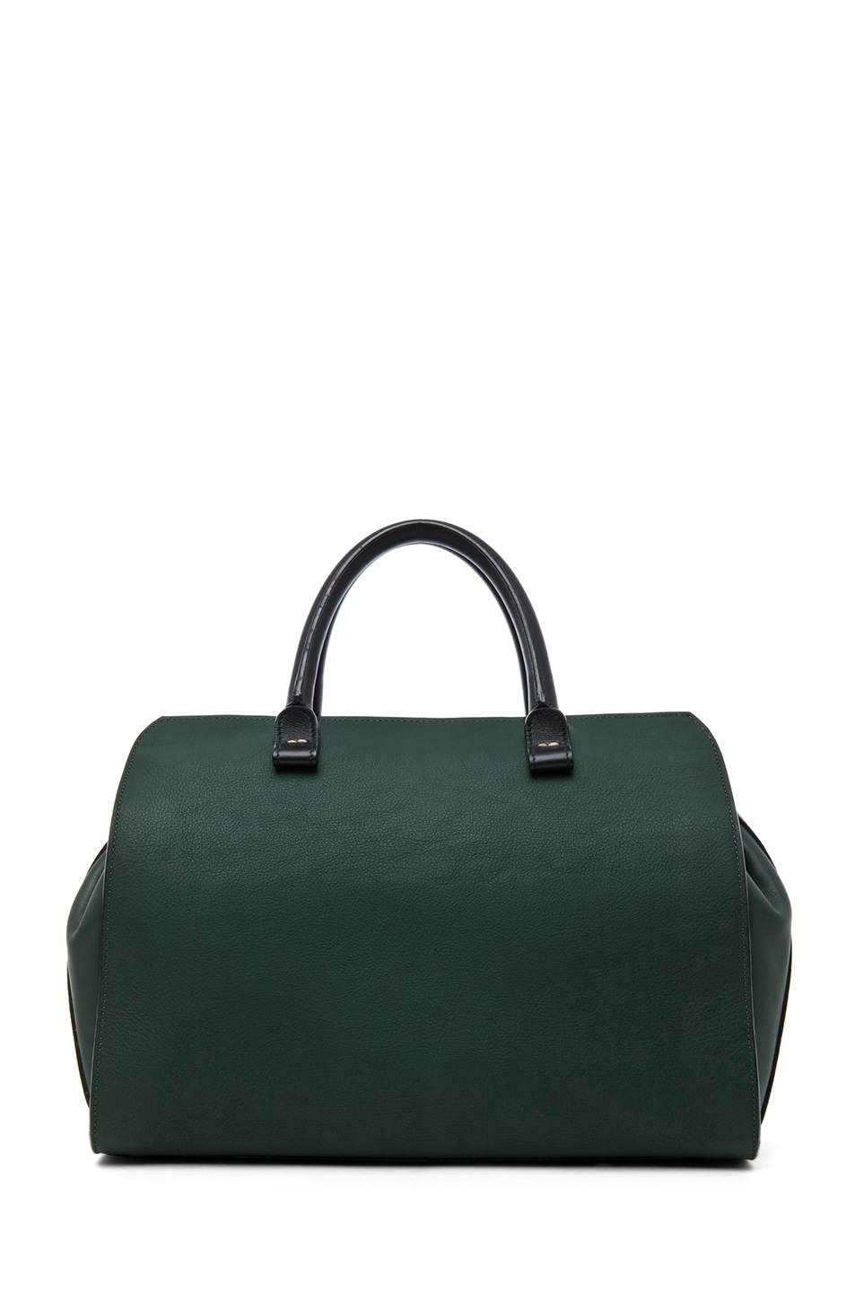 Image 1 of Victoria Beckham The Soft Victoria Bag in Forest Green