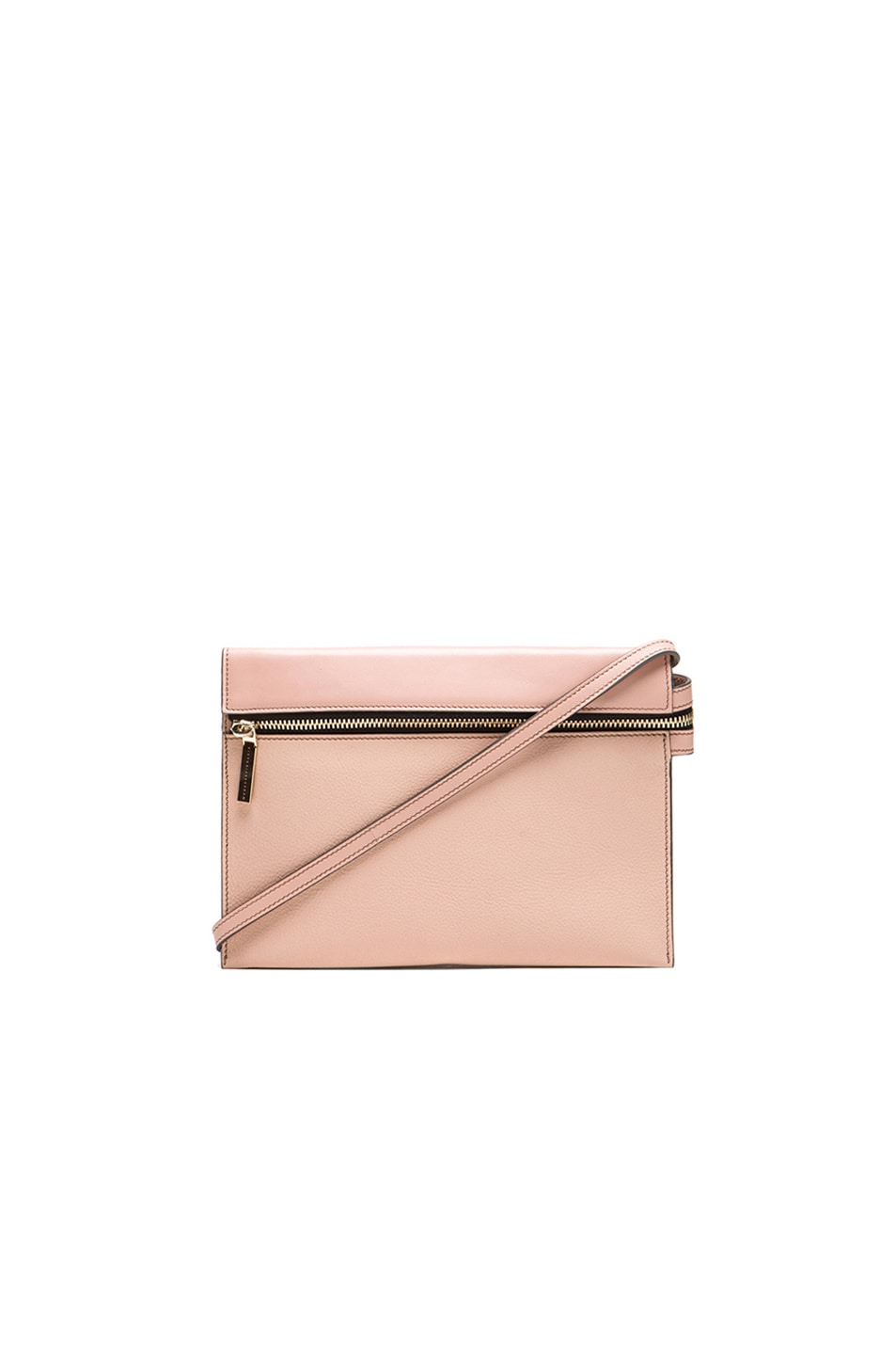 Image 1 of Victoria Beckham Zip Pouch Cross Body in Blush Pink