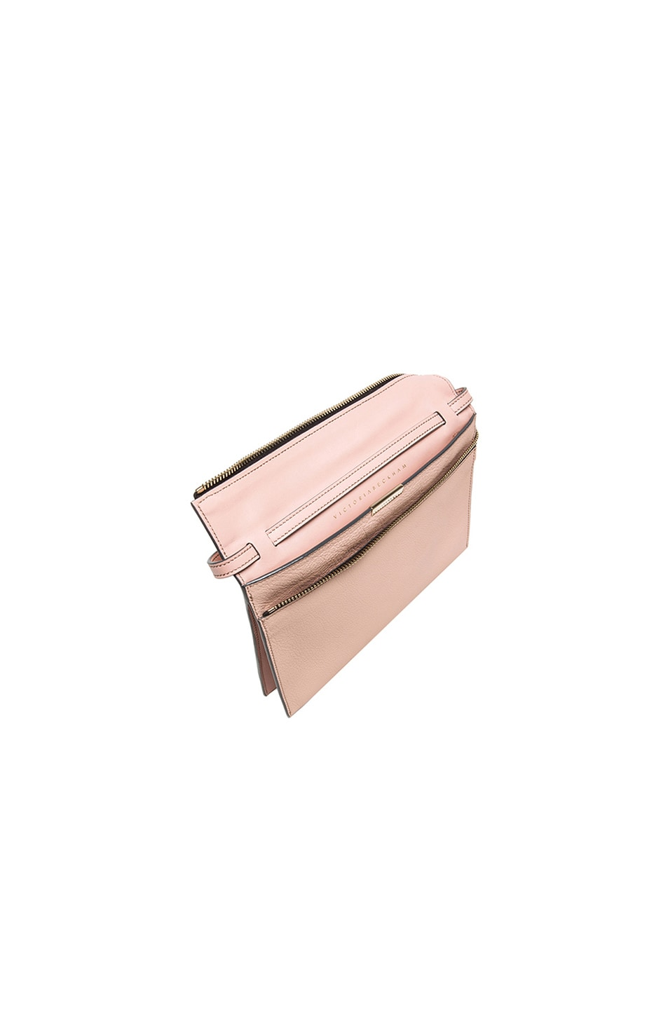 Image 5 of Victoria Beckham Zip Pouch Cross Body in Blush Pink