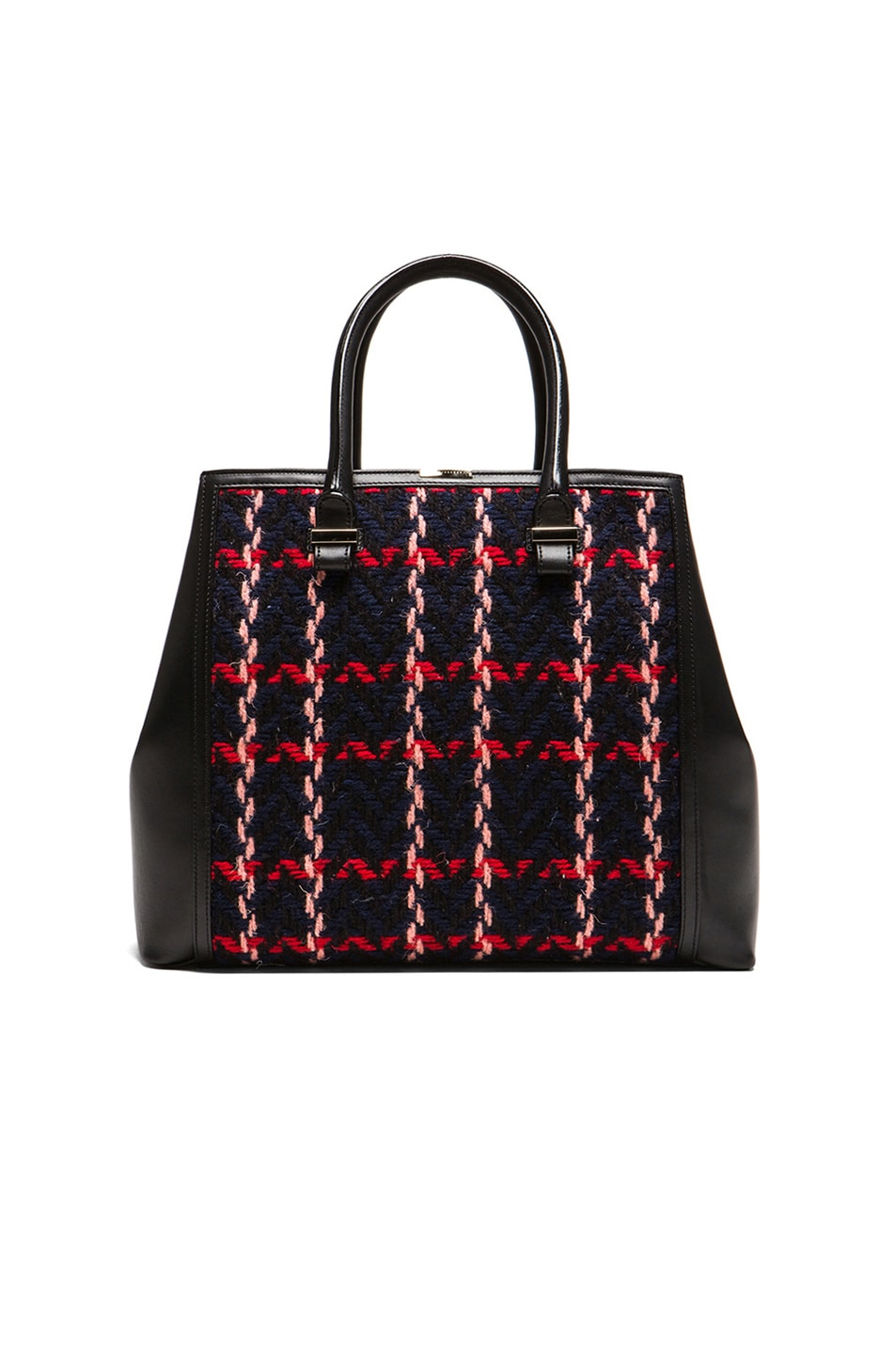 Image 1 of Victoria Beckham Liberty Tote in Black Multi