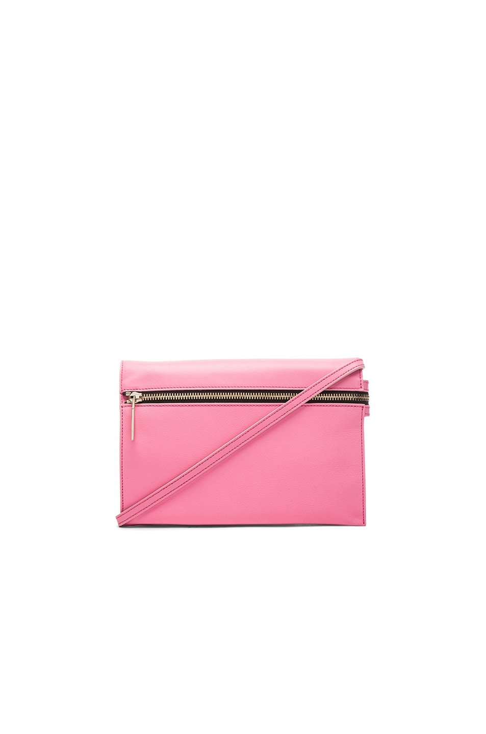 Image 1 of Victoria Beckham Zip Pouch Crossbody in Candy Pink