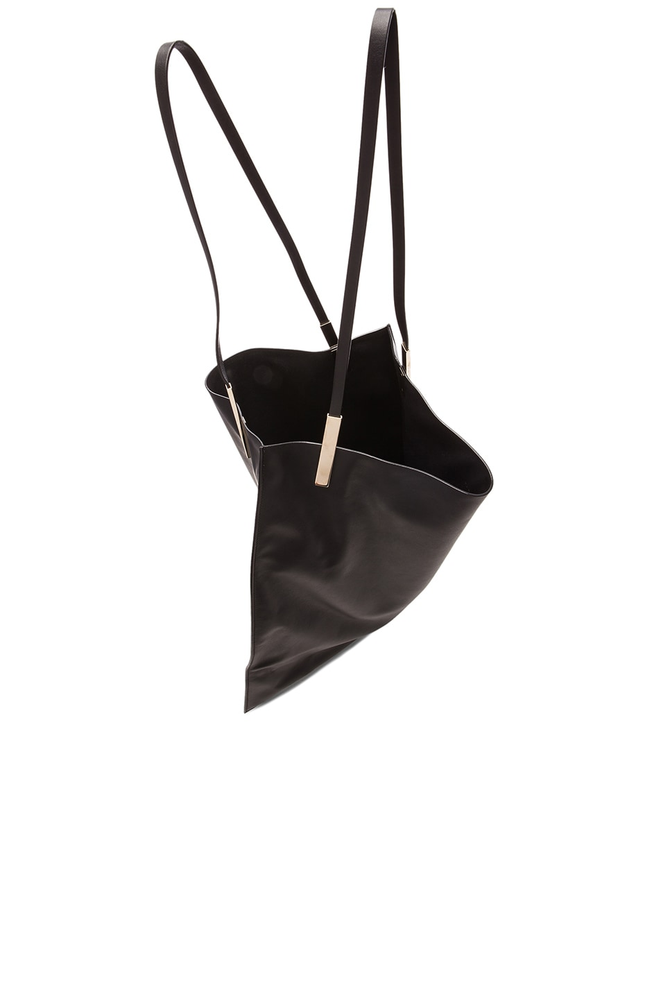 Image 5 of Victoria Beckham Flat Calf Tote in Black