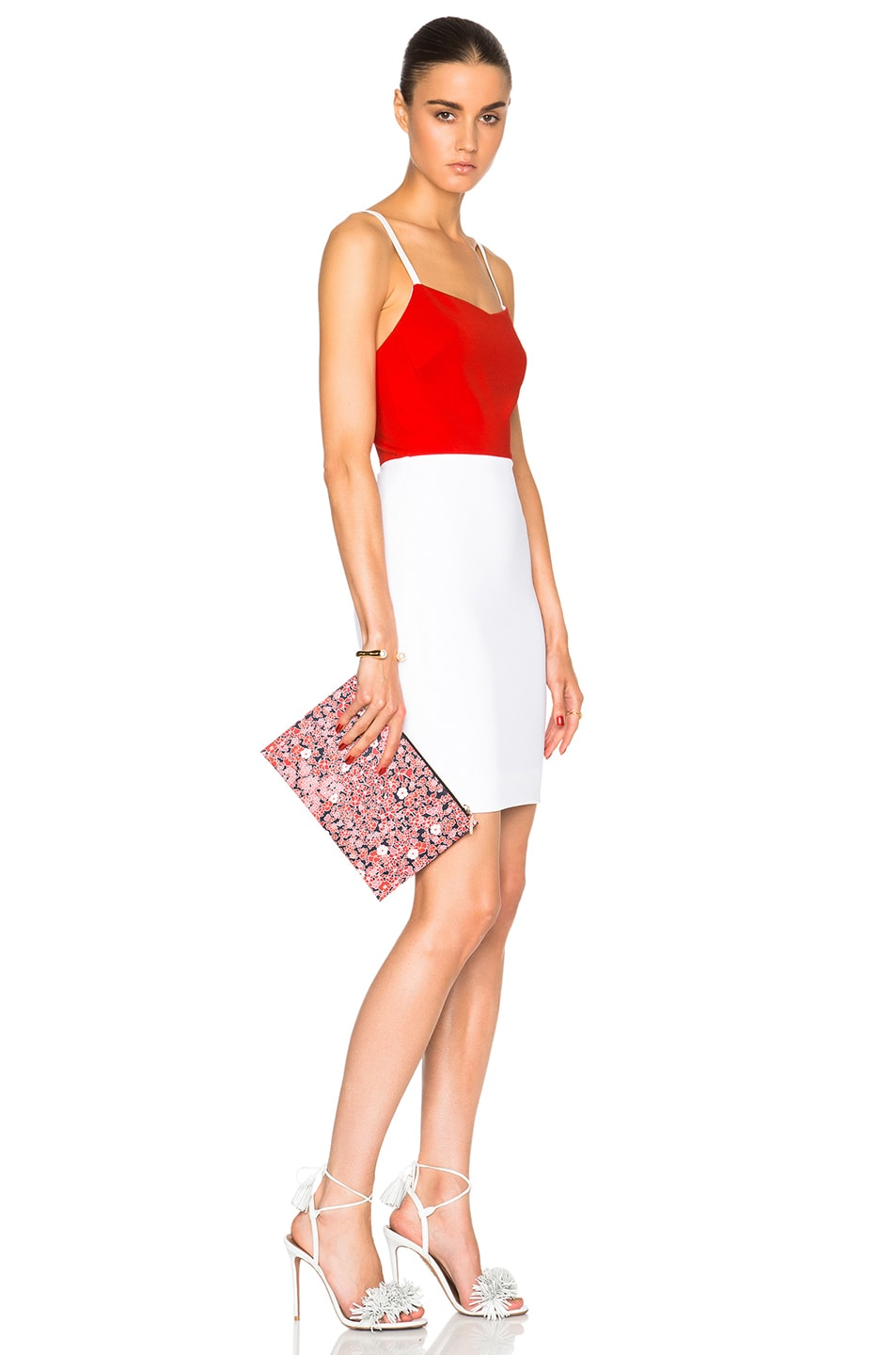 Image 2 of Victoria Beckham Small Simple Pouch in Floral