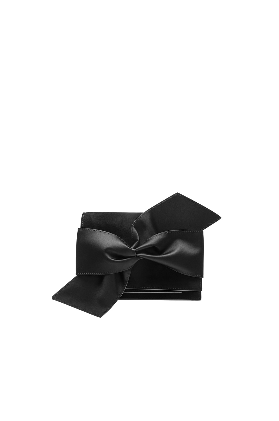 Image 1 of Victoria Beckham Mini Bow Clutch in Black